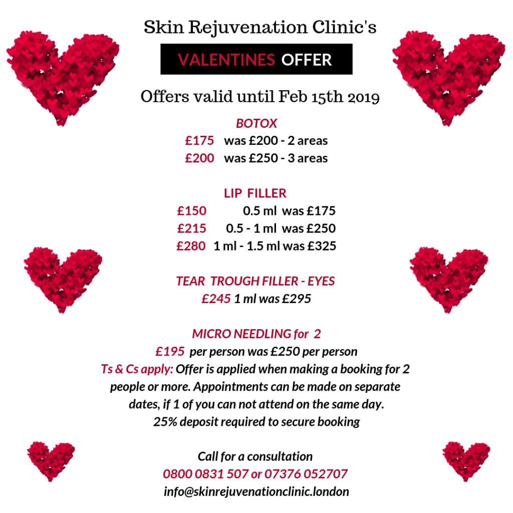 skin rejuvenation clinic valentines offer