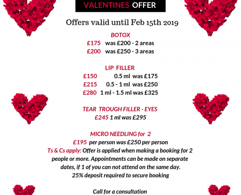 skin rejuvenation clinic valentines offer